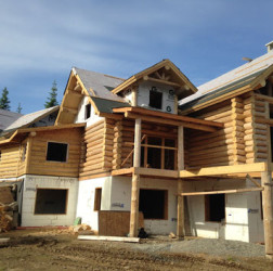 Custom Log Home Patterson Construction - Lakeside Custom Plumbing